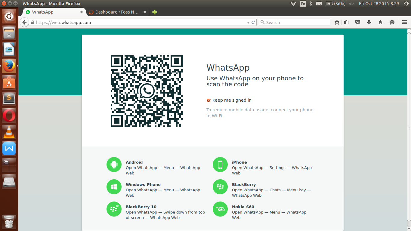 whatsapp scan barcode