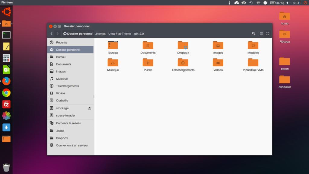 ultra flat theme ubuntu